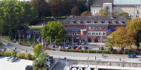 Luftbild der Seeburg